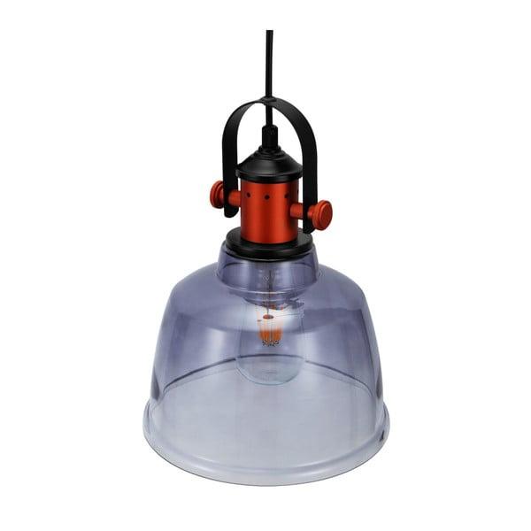 Szara wisząca lampa szklana Garageeight Etel
