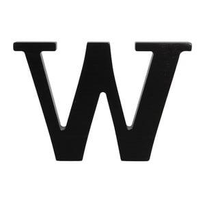 Czarna drewniana litera Typoland W