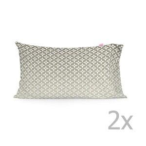 Zestaw 2 poszewek na poduszki Happy Friday Embroidery Printed, 50x80 cm