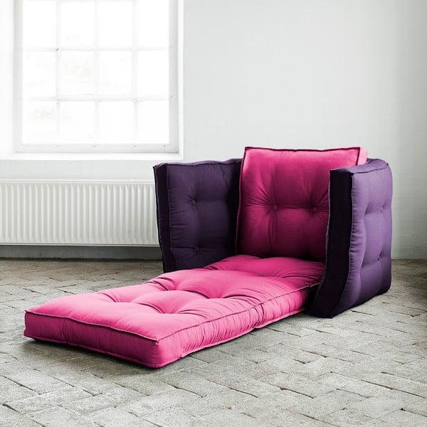 Fotel rokładany Karup Dice Pink/Purple