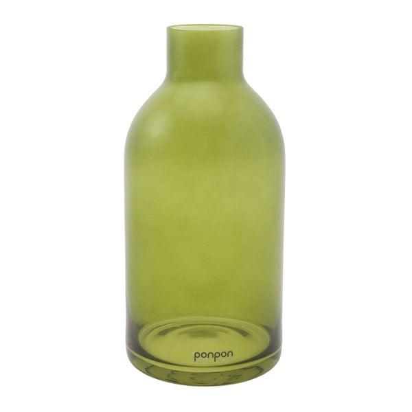 Wazon/świecznik Bottle 25,5 cm, zielony