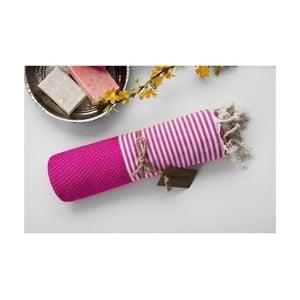 Ręcznik hamam Jacquard Loincloth Pink, 100x180 cm
