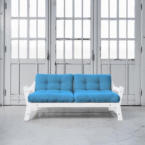 Sofa rozkładana Karup Step White/Horizon Blue
