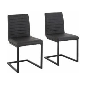 Zestaw 2 szarych krzeseł Støraa Sandra