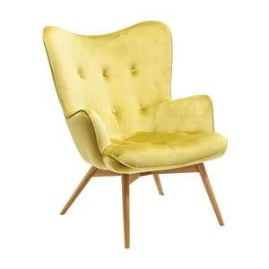 Żółty fotel Kare Design Vicky