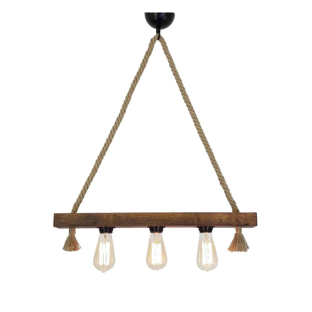 Drewniana lampa wisząca Kutuk