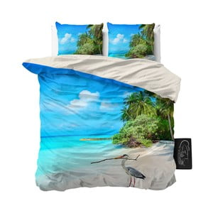 Pościel z mikroperkalu Sleeptime Beach Heron, 200x220 cm