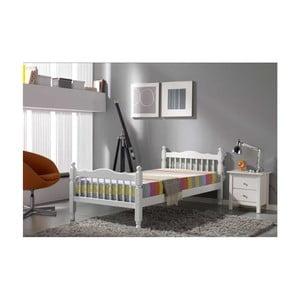 Białe łóżko SOB Tauria, 140x200cm