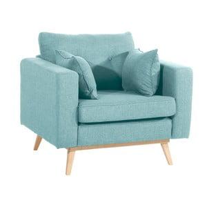 Jasnoniebieski fotel Max Winzer Tomme