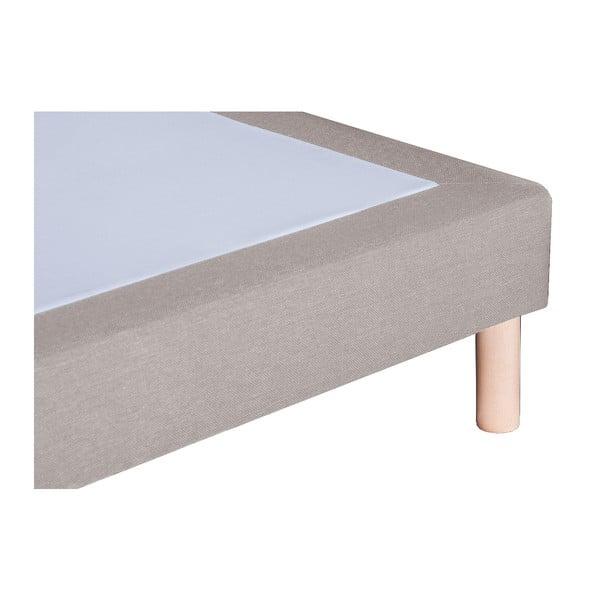Szare łóżko z materacem Stella Cadente Saturne Forme, 140x200 cm