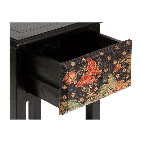 Czarny stolik z drewna mindi Santiago Pons Batik