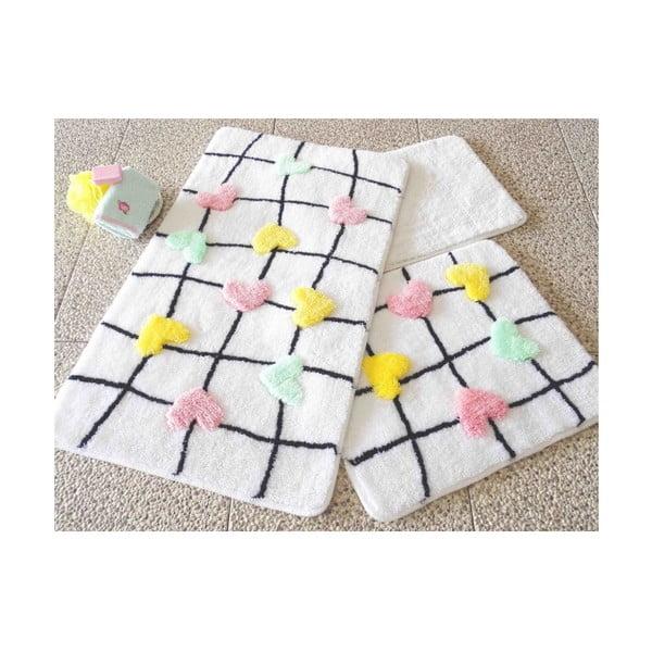Zestaw 3 dywaników łazienkowych Confetti Bathmats Hearts