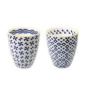 Zestaw 2 porcelanowych filiżanek Geometric No1