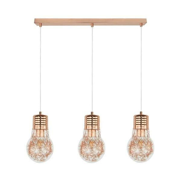 Potrójna lampa wisząca BRITOP Lighting Bulb Copper