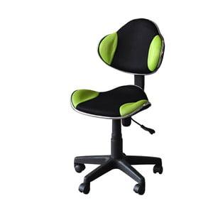 Zielonoczarne krzesło biurowe SOB Office