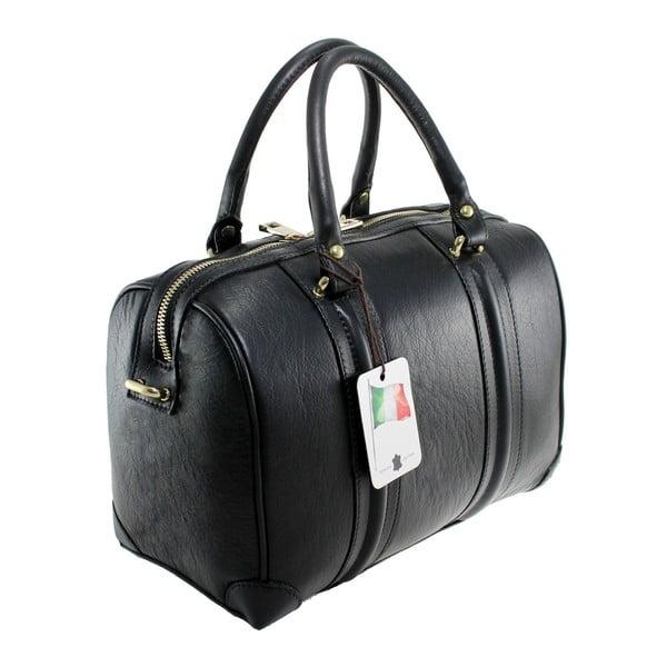 Czarna skórzana torebka Boston