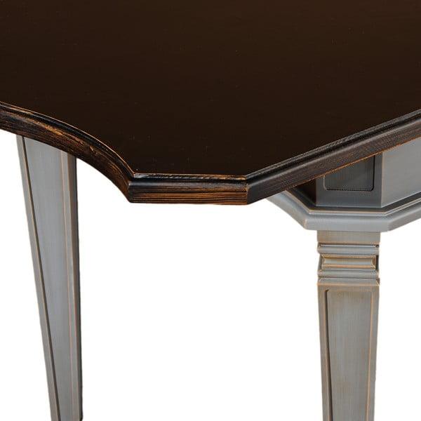 Rozkładany stół Belgique Grey, 80 x 140-180 cm