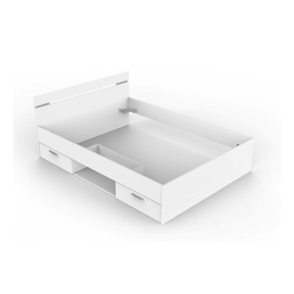 Białe łóżko Z 2 Szufladami Michigan 140 X 200 Cm Bonami