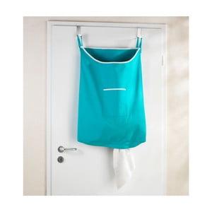 Turkusowy wiszący kosz na pranie Wenko Door Laundry