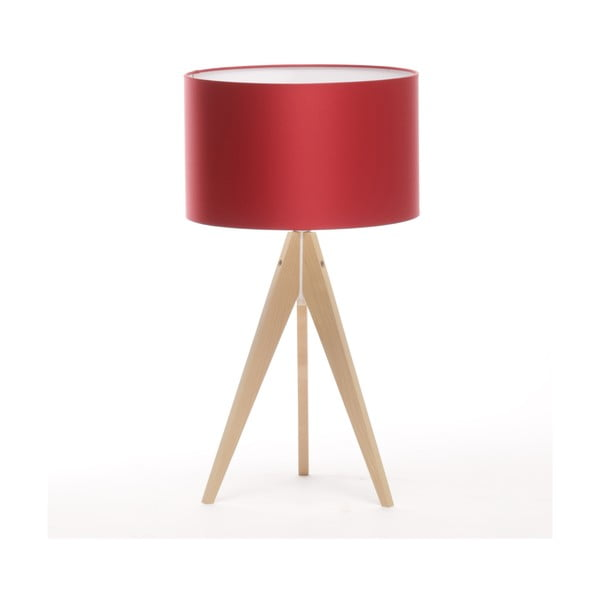 Lampa stołowa Artist Ice Red/Natural Birch, 65 cm