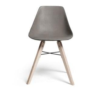 Krzesło z betonowym siedziskiem Lyon Béton Hauteville