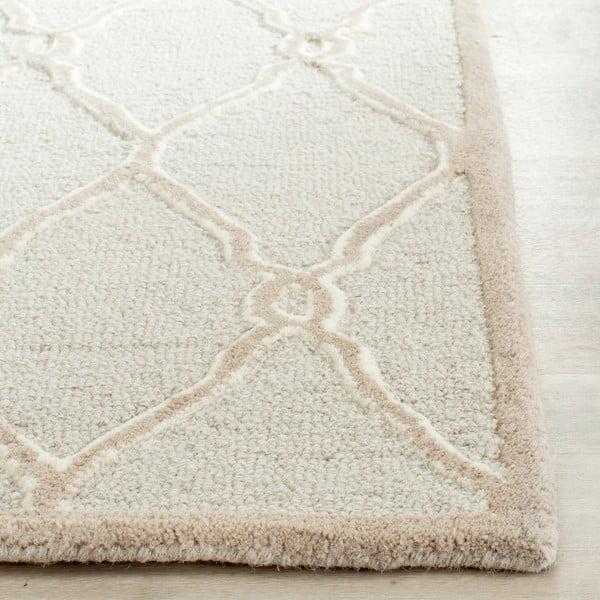 Wełniany dywan Augusta 152x243 cm, kremowy