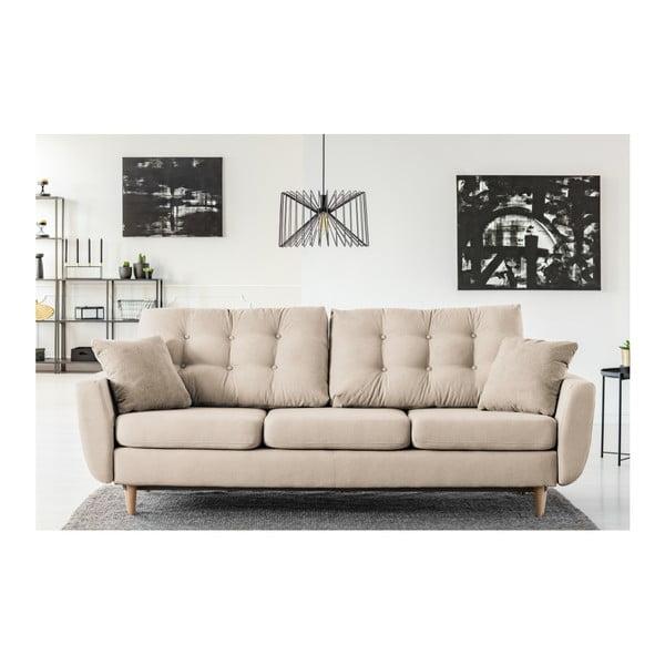 Kremowa 3-osobowa sofa rozkładana Cosmopolitan design Barcelona
