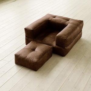 Fotel rozkładany Karup Cube Choco
