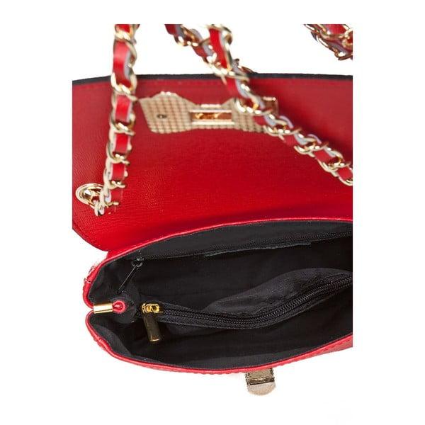 Skórzana torebka Bow Red