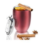 Czerwony nierdzewny kubek termiczny Asobu Imperial Beverage, 300 ml