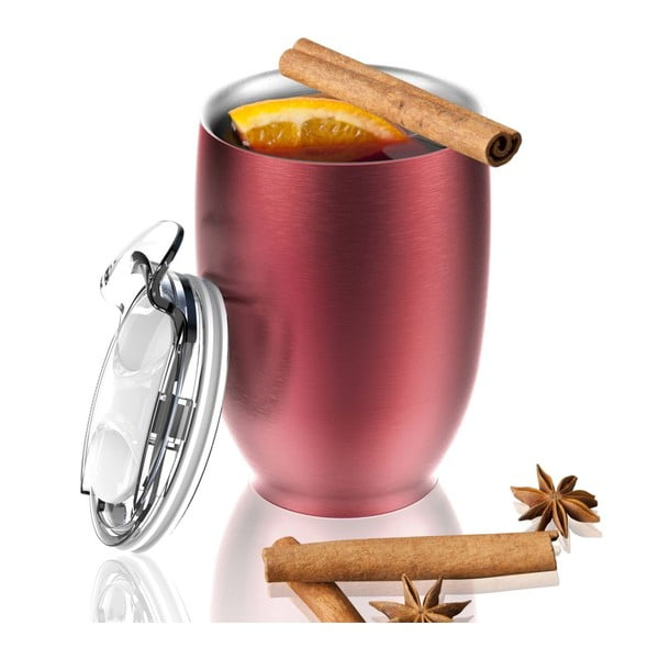 Nierdzewny kubek termiczny Imperial Beverage, czerwony