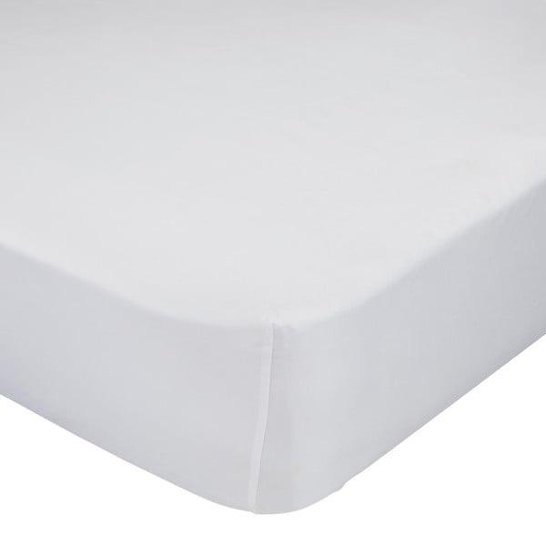 Białe prześcieradło elastyczne Happynois, 60x120 cm