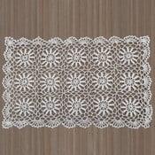 Biała koronkowa mata stołowa InArt, 30x45 cm