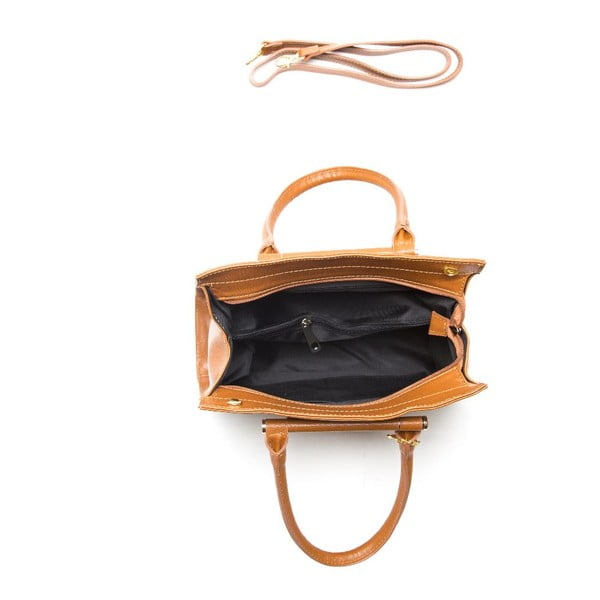 Skórzana torebka Anna Luchini 434 Cognac