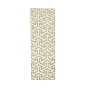 Dywan ręcznie tkany Kilim Green 103, 60x180 cm