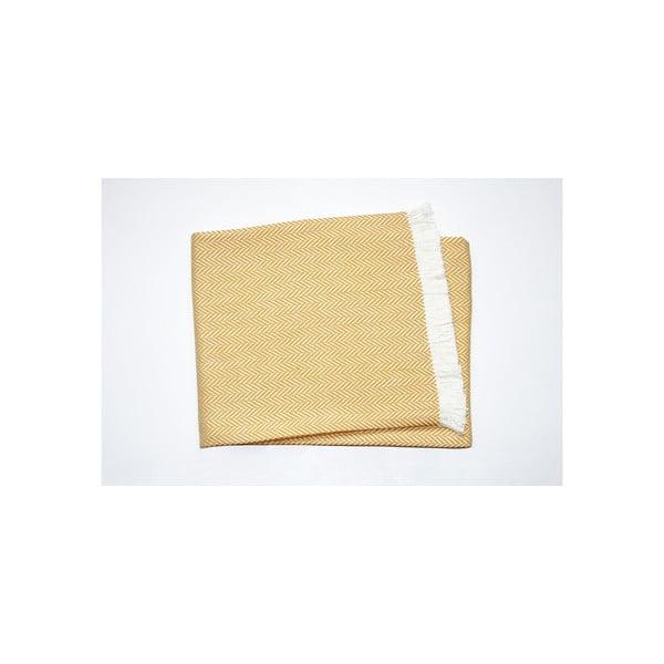 Lekki koc Skyline Yellow, 140x180 cm