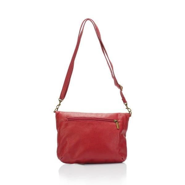 Ciemnoczerwona torebka skórzana Lisa Minardi Renae