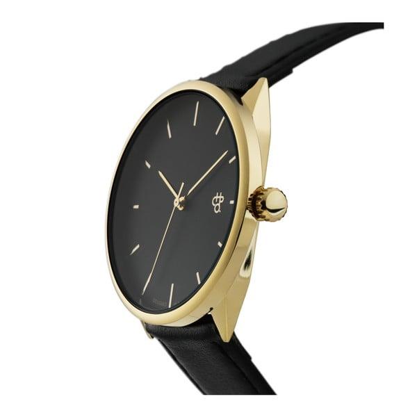 Zegarek z czarnym paskiem i czarnym cyferblatem CHPO Khorshid