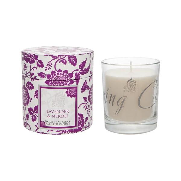 Świeczka zapachowa Spring w prezentowym opakowaniu 40 godzin palenia, aromat lawendy i neroli