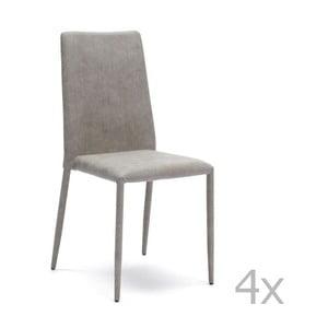 Zestaw 4 jasnoszarych krzeseł Design Twist Dammam