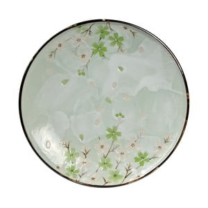 Talerz porcelanowy Green Cosmos, 25.5 cm