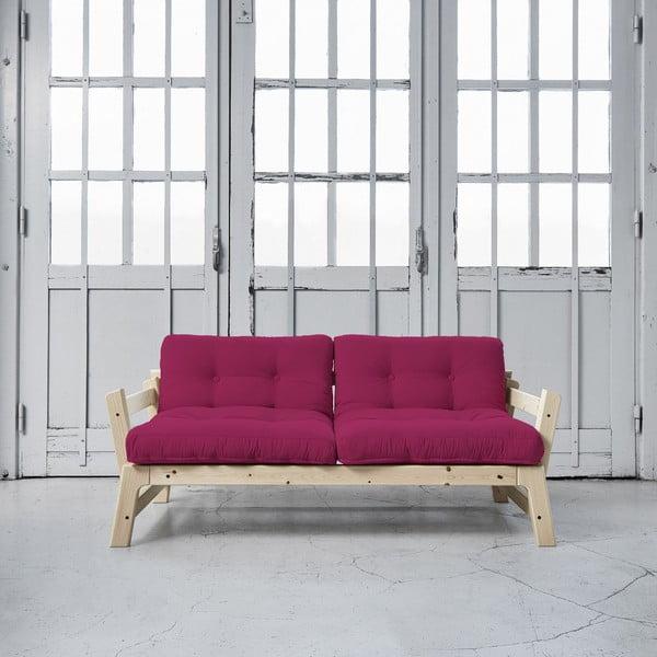 Sofa rozkładana Karup Step Natural/Pink
