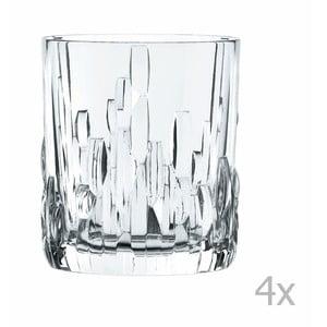 Komplet 4 szklanek do whisky ze szkła kryształowego Nachtmann Shu Fa, 330 ml