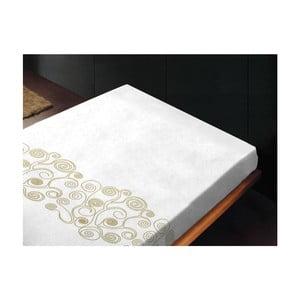 Prześcieradło Lira Bianco Oro, 180x260 cm