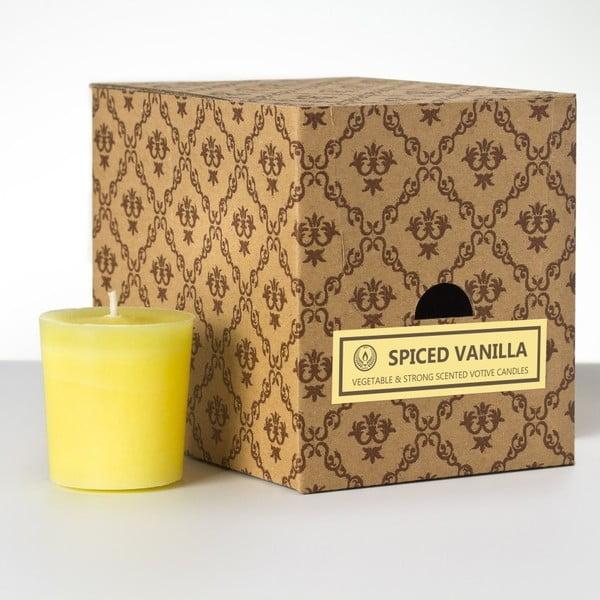 Zestaw 12 świeczek zapachowych Spice Vanilla, 15 godzin palenia