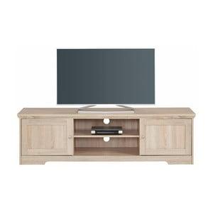 Szafka pod TV z dębowym dekorem Støraa Annie, 160x45cm