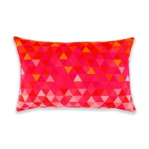 Poduszka Triangles Orange/Pink, 60x40 cm