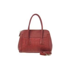 Skórzana torebka Twist Red