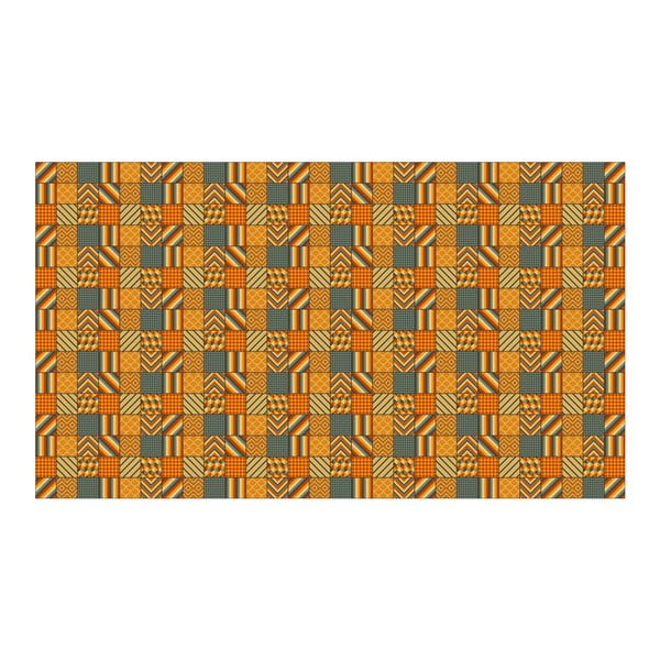 Dywan winylowy Kalia Orange, 52x140 cm