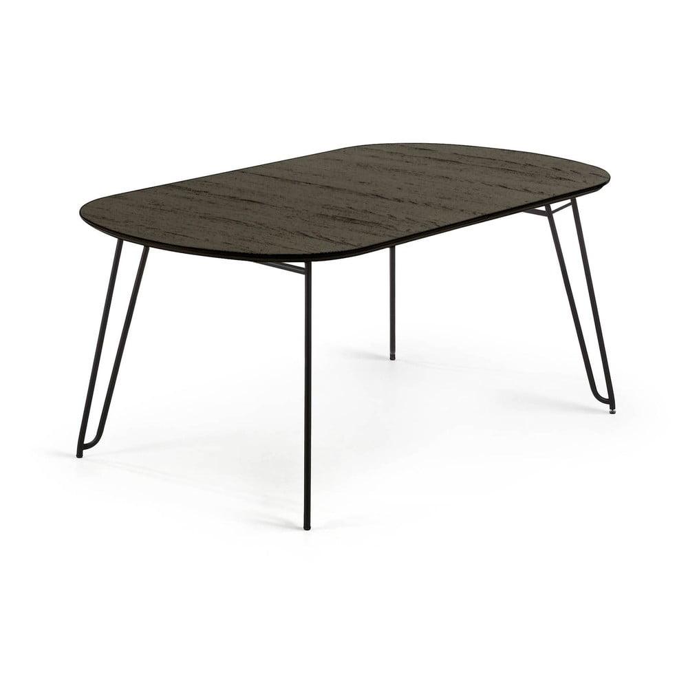 Czarny stół rozkładany La Forma Norfort, dł. 140/220 cm